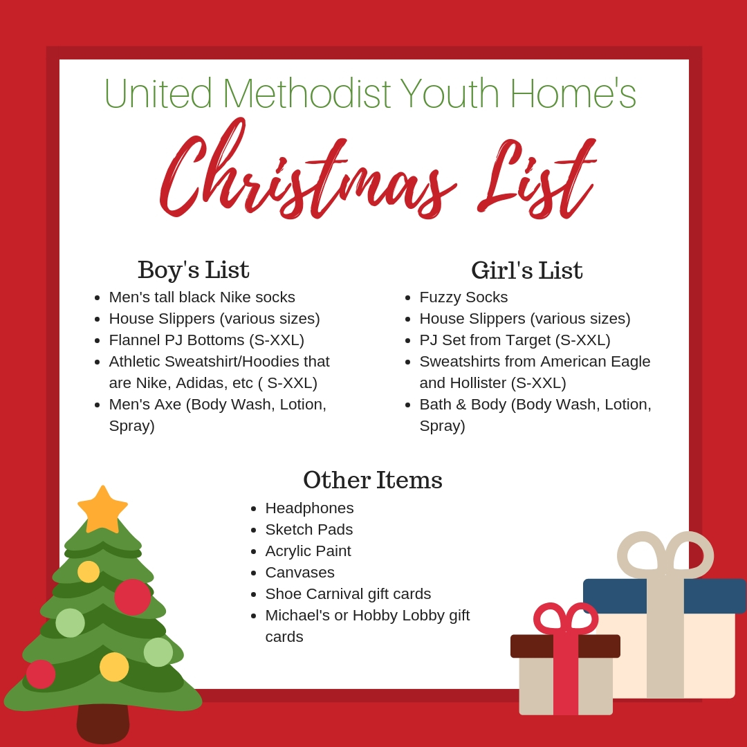 In-Kind Donation Needs – United Methodist Youth Home